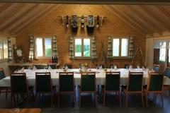 Anbau Spycher: Im Schulungs- und Verpflegungsraum werden Gäste bewirtet